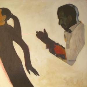 "Archie Alleyne by Julia Breckenreid, acrylic & oil. 30"" x 30"" $2000"