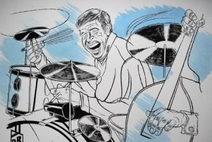 Buddy Rich by Scott Galley SOLD