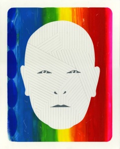 "Phil Selway by Edel Rodriguez, acrylic & pencil on masonite, 16"" x 20"" $1500"