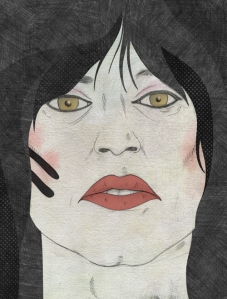 "Tommy Lee by Marco Cibola, mixed media, 12.75"" x 16.75"" $350"